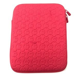 Red Hot Pink Michael Kors iPad tablet sleeve  case